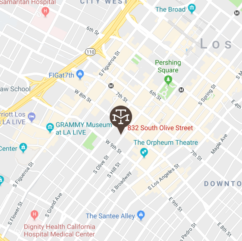 Map of DTLA Location