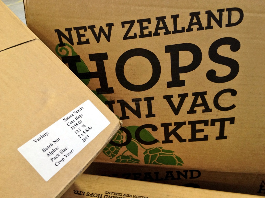 Nelson Sauvin hops from New Zealand