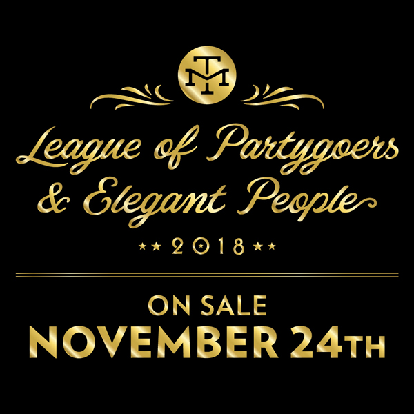 The League of Partygoers & Elegant People: On Sale 11/24