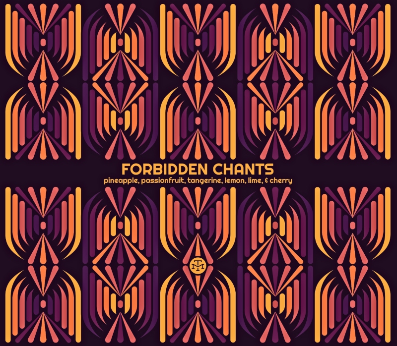 Forbidden Chants: Pineapple, passionfruit, tangerine, lemon, lime, and cherry