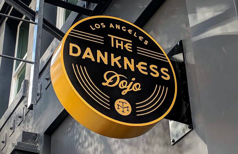 Photo of the Dankness Dojo sign at 832 South Olive Street
